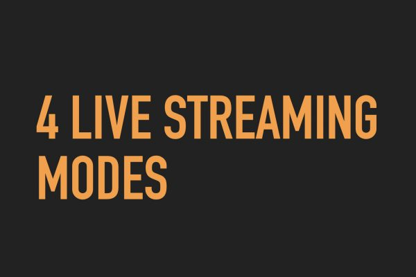 Stream Your Church: The 4 Modes of Live Streaming