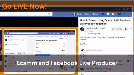 Ecamm Live and Facebook Live Producer