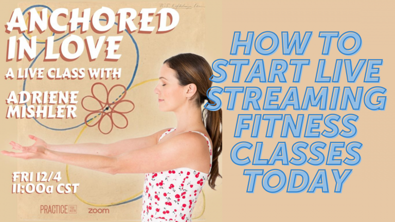 How to Start Live Streaming Fitness Classes