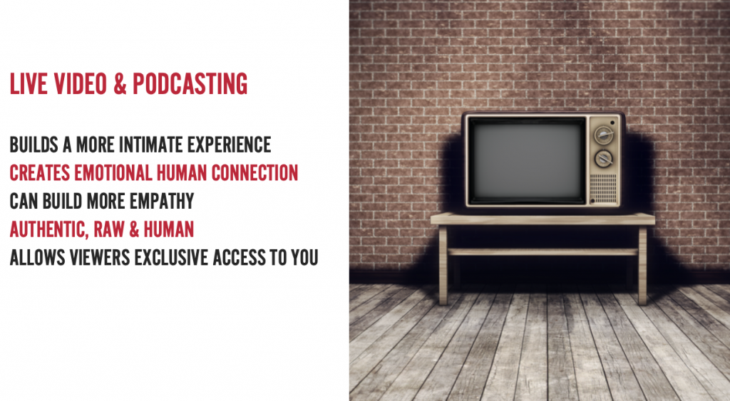 live streaming and podcasting