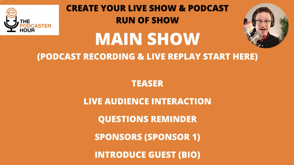 podcast recording and live replay