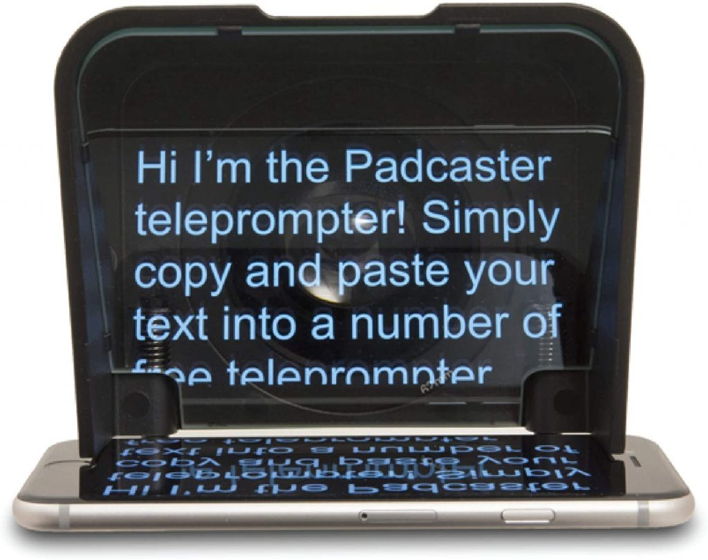 teleprompters for run of show