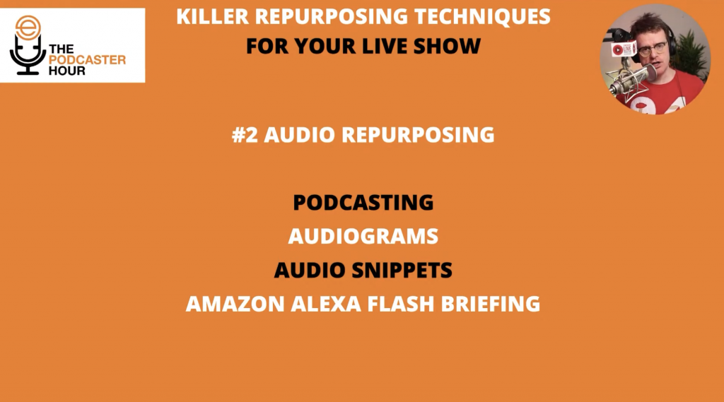 audio repurposing techniques