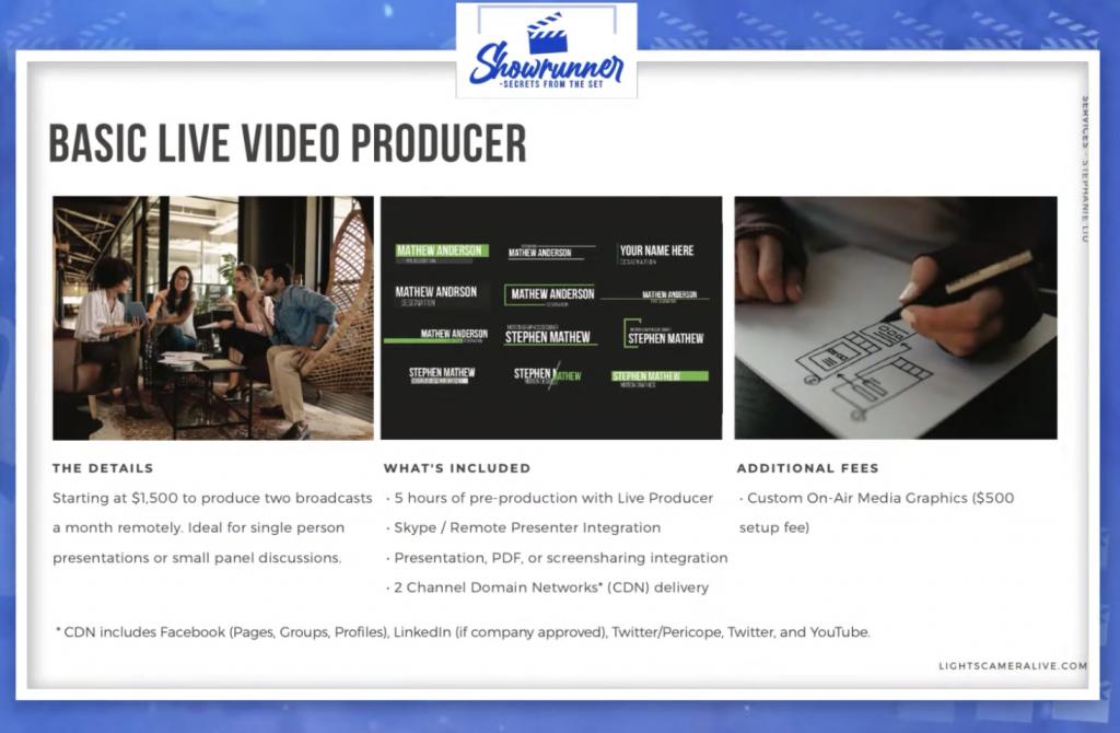 basic live video producer
