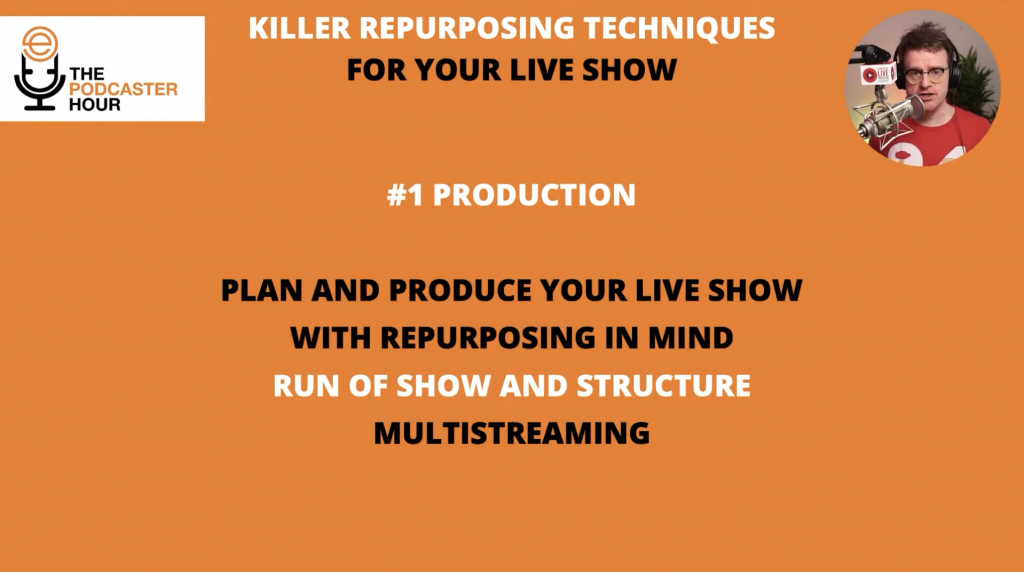 how to structure your live show