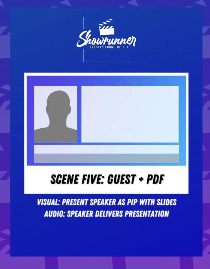 guest shot plus PDF graphic for live video