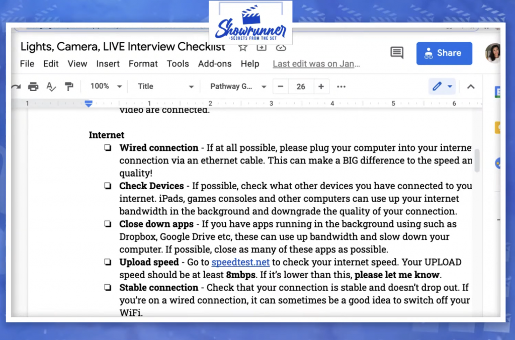 internet connectivity and live streaming