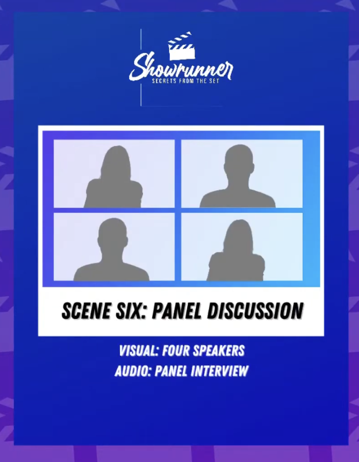 panel discussion graphic for live video