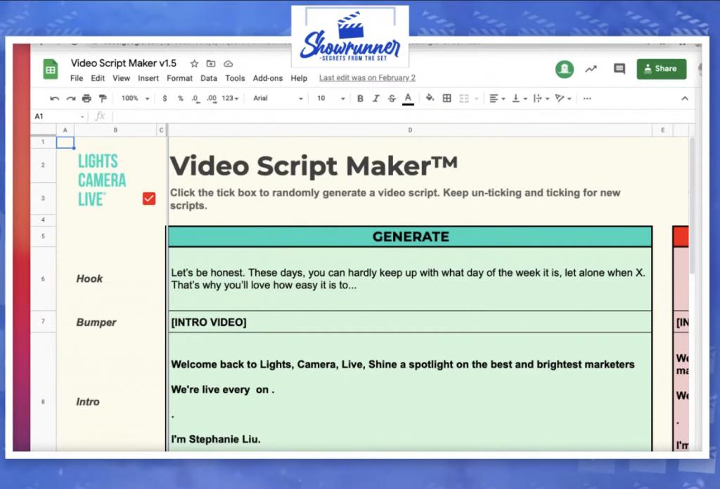 Showrunner Video Script Maker